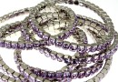 4428 Swarovski 5mm purple bracelet, rhodium plated, 18cm - x1