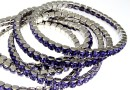 4428 Swarovski 5mm tanzanite bracelet, rhodium plated, 18 cm - x1