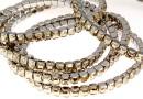 4428 Swarovski 5mm golden shadow bracelet, rhodium plated, 18 cm - x1