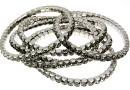 4428 Swarovski 5mm black diamond bracelet, rhodium plated, 18 cm - x1
