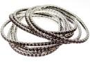 1088 Swarovski 4mm garnet bracelet, rhodium plated, 18 cm - x1