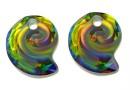 Swarovski, sea snail pendant, vitrail medium, 14mm - x1