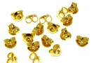 Ear Nut clutch, gold-plated 925 silver, 4.5mm - x4pcs