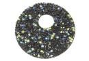 Swarovski, fine rocks pendant, black crystal AB, 40mm - x1