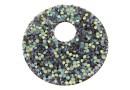 Swarovski, fine rocks pendant, black crystal AB matte, 40mm - x1
