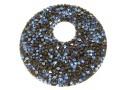 Swarovski, fine rocks pendant, black moonlight, 40mm - x1