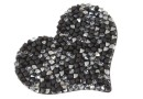 Swarovski, rocks pendant, black jet metallic  silver, 50mm - x1