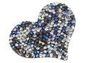 Swarovski, rocks pendant, black jet bermuda blue comet argent light, 50mm - x1