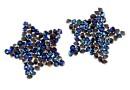 Swarovski, fine rocks pendant, bermuda blue, 22mm - x1