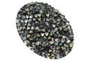Swarovski, rocks pendant, black jet chrome, 36.5mm - x1