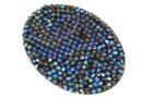 Swarovski, rocks pendant, black bermuda blue, 50mm - x1