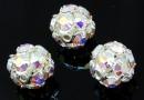 Swarovski, montees, silver-plated disco ball, aurora borealis, 8mm - x1