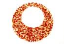 Swarovski, ultrafine rocks pendant, red magma, 30mm - x1
