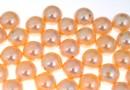 Swarovski one hole pearls, peach, 8mm - x2