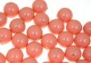 Swarovski one hole pearls, pink coral pearl, 10mm - x2