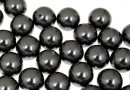 Swarovski one hole pearls, black, 10mm - x2