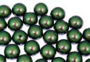 Swarovski one hole pearls, scarabaeus green, 8mm - x2