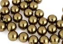 Swarovski one hole pearls, antique brass, 4mm - x4