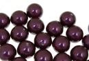 Swarovski one hole pearls, blackberry, 12mm - x2