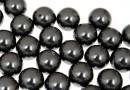 Swarovski one hole pearls, black, 6mm - x4