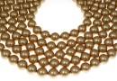 Swarovski pearl, vintage gold, 3mm - x100