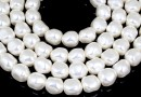 Swarovski beads, pearl candy, white, 8mm - x4