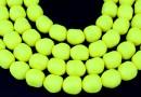 Swarovski beads, pearl candy, neon yellow, 10mm - x2