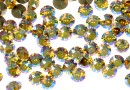 Swarovski, chaton ss29, light topaz shimmer, 6mm - x4