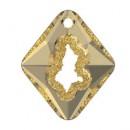 Swarovski, pand.growing rhombus, golden shadow, 36mm - x1
