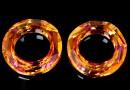 Swarovski, cosmic pendant ring, astral pink, 20mm - x1