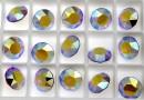 Swarovski, chaton SS39, rose aurore boreale, 8mm - x2