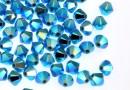 Swarovski, beads bicone, turquoise AB2x, 4mm - x20