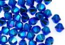Swarovski, beads bicone, capri blue AB2x, 4mm - x20