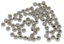 Decorative beads, stardust, 925 silver rhodium plated, 3mm - x10