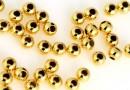 Decorative beads, gold-plated 925 silver, 4mm - x10