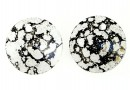Swarovski, rivoli pendant, black patina, 6mm - x10