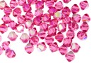 Swarovski, bicone bead, rose aurore boreale, 4mm - x20