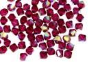 Swarovski, bicone bead, ruby aurore boreale, 4mm - x20