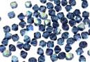 Swarovski, bicone bead, montana aurore boreale, 4mm - x20