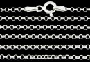 Chain with round rings and clasp, 925 silver, 45cm - x1