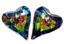 Swarovski, heart pendant Wild heart, vitrail medium, 27mm - x1