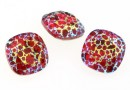 Swarovski,  fancy square, scarlet white patina, 12mm - x1