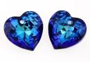 Swarovski, heart pendant, bermuda blue, 14.5mm - x1