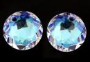 Swarovski, chaton pendant, blue aurore boreale, 14mm - x1