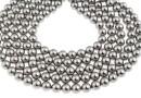 Swarovski pearl, grey, 6mm - x100