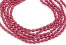 Swarovski pearl, mulberry pink, 4x3mm - x100