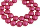 Swarovski disk pearls, mulberry pink pearl, 12mm - x4