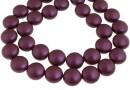 Swarovski disk pearls, elderberry pearl, 12mm - x4