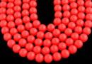 Swarovski pearls, neon red, 14mm - x2