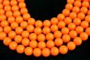Swarovski pearls, neon orange, 14mm - x2